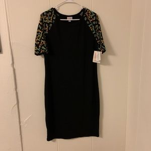 Lularoe Black Julia Dress Size Large NWT